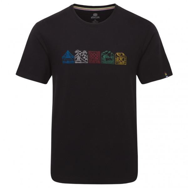 #Sherpa – Lungta Tee – T-Shirt Gr L schwarz#