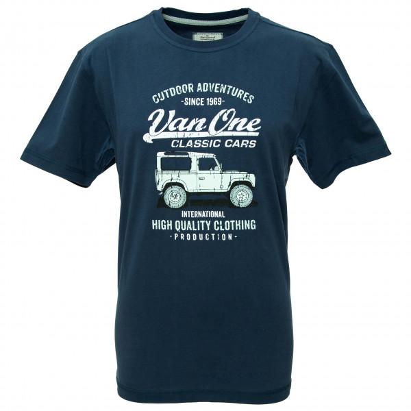 Van One - Landi VW Bulli T-Shirt - T-Shirt Gr L blau/schwarz