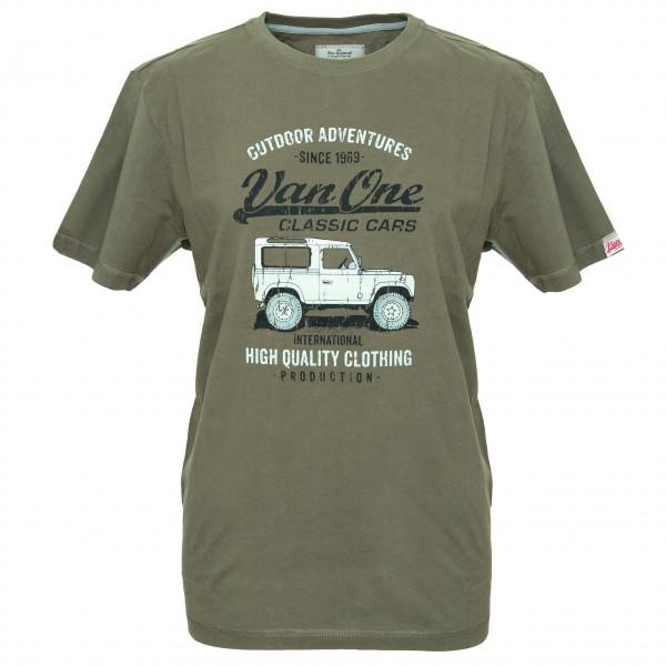 Van One - Landi VW Bulli T-Shirt - T-Shirt Gr L oliv/grau