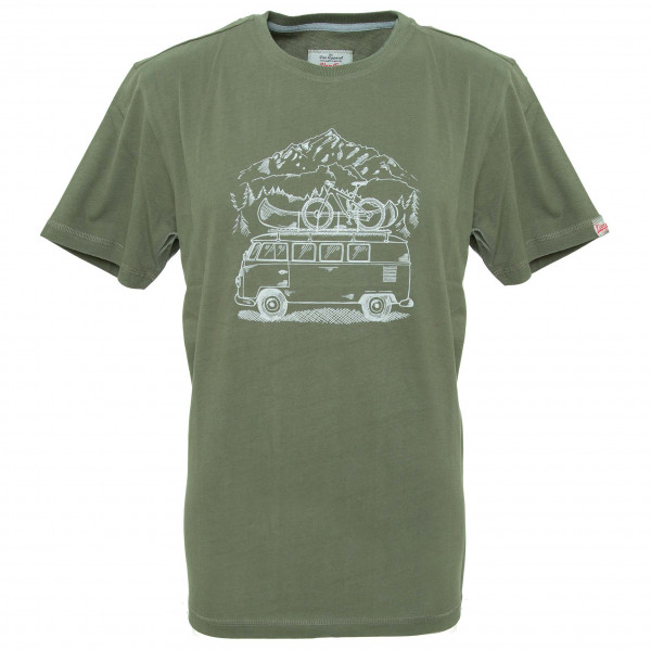 Van One - Zugspitze VW Bulli T-Shirt - T-Shirt Gr M grau/oliv