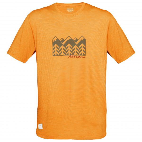 Norrna - Svalbard Wool - T-shirt Size L  Orange