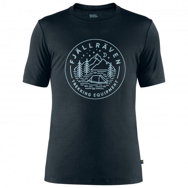 #Fjällräven – Abisko Wool Tältplats S/S – T-Shirt Gr L;M;S;XL;XXL grau/oliv;schwarz#