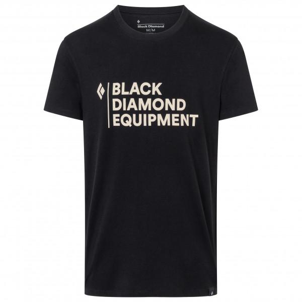 Black Diamond - Stacked Logo Tee - T-shirt Size S  Black