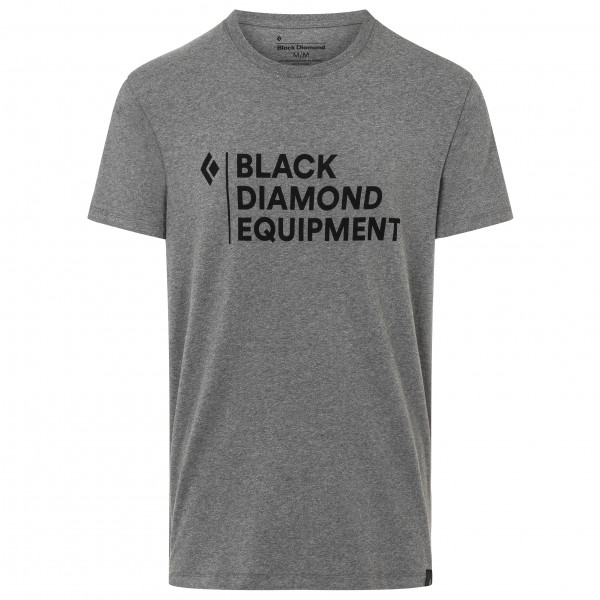 Black Diamond - Stacked Logo Tee - T-shirt Size L  Grey