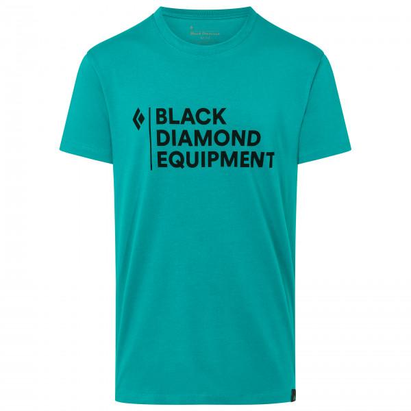 Black Diamond - Stacked Logo Tee - T-shirt Size L  Turquoise