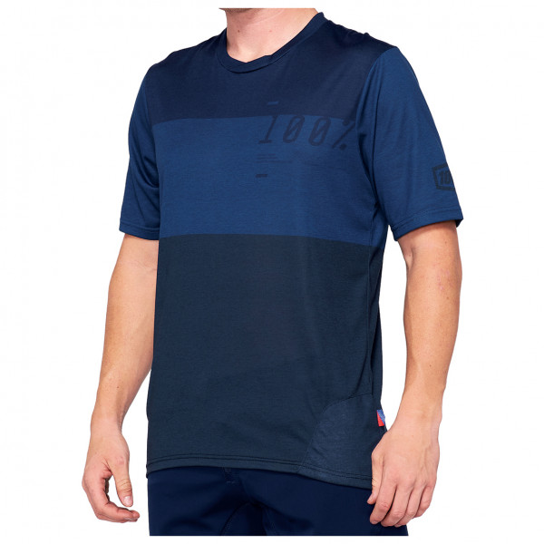 100% - Airmatic Enduro/Trail Jersey - Sport shirt size XL, blue/sand