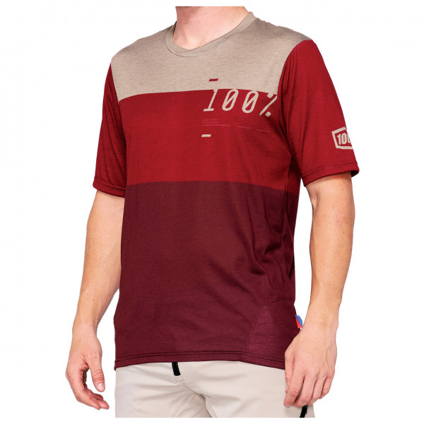 100% - Airmatic Enduro/Trail Jersey - Sport shirt size L, red/sand