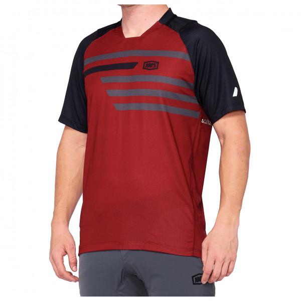 100% - Celium Enduro/Trail Jersey - T-shirt technique taille L, rouge/noir/beige