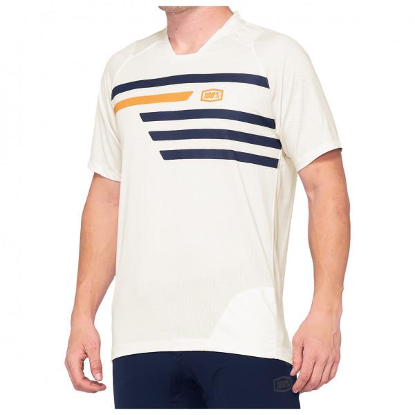 100% - Celium Enduro/Trail Jersey - T-shirt technique taille L, blanc/beige
