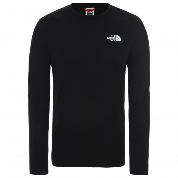 The North Face - L/s Red Box Tee - Longsleeve Size M  Black