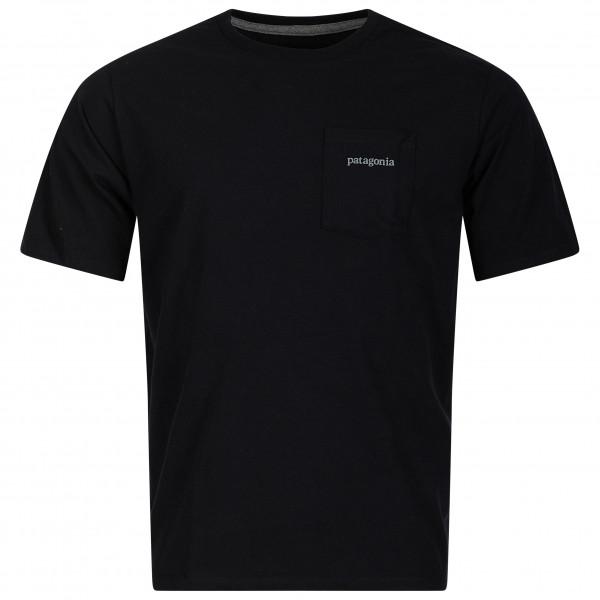 Patagonia - Line Logo Ridge Pocket Responsibili-tee - T-shirt Size S  Black
