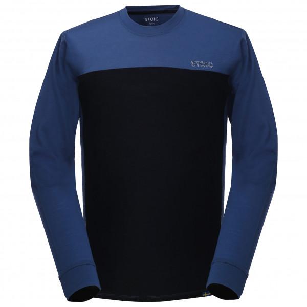 Stoic - T150 Merino Mesh L/s Bergslagenst. - Sport Shirt Size Xl  Black/blue