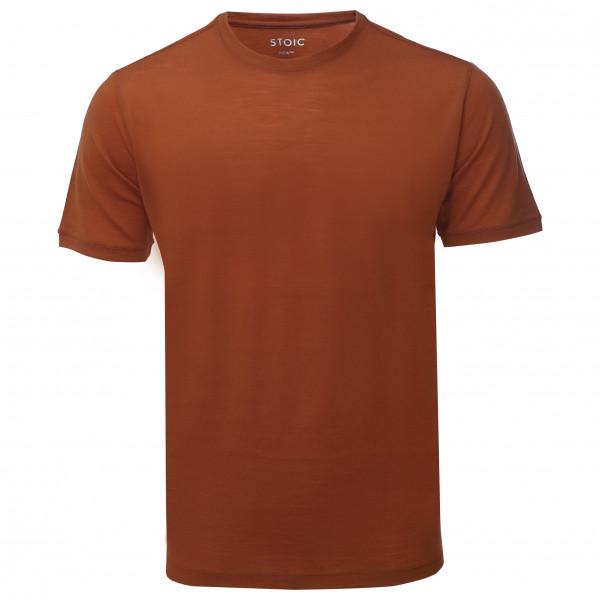 #Stoic – T150 Merino S/S JokkmokkSt. – T-Shirt Gr XL rot/braun#