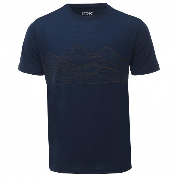 #Stoic – T150 Merino S/S LinjeSt. – T-Shirt Gr XL schwarz/blau#
