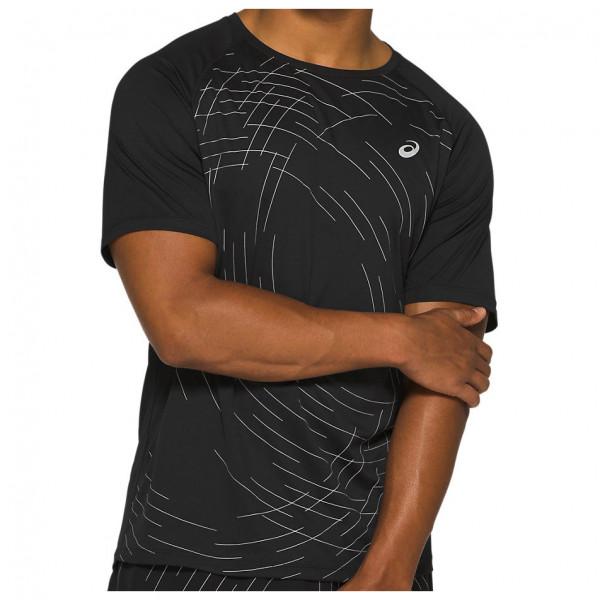 Asics - Night Track Top - Running Shirt Size L  Black/brown
