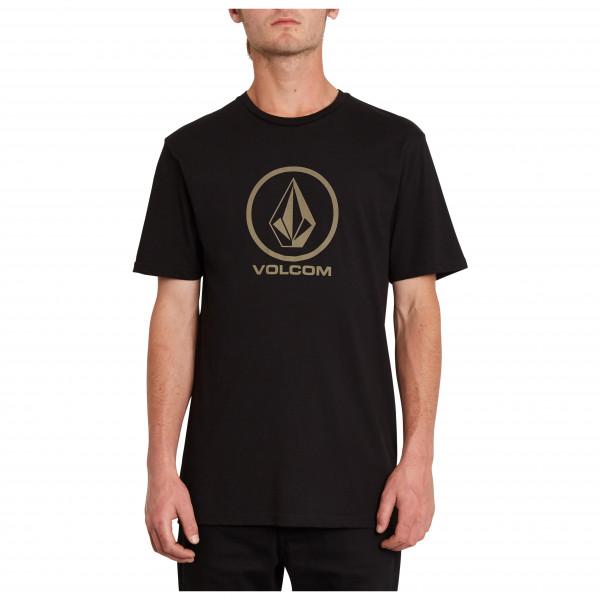 volcom - crisp stone bsc s/s - t-shirt maat s, zwart
