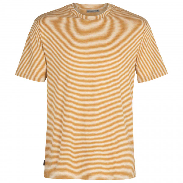 Icebreaker - Dowlas S/s Crewe Stripe - Merino Shirt Size M  Sand