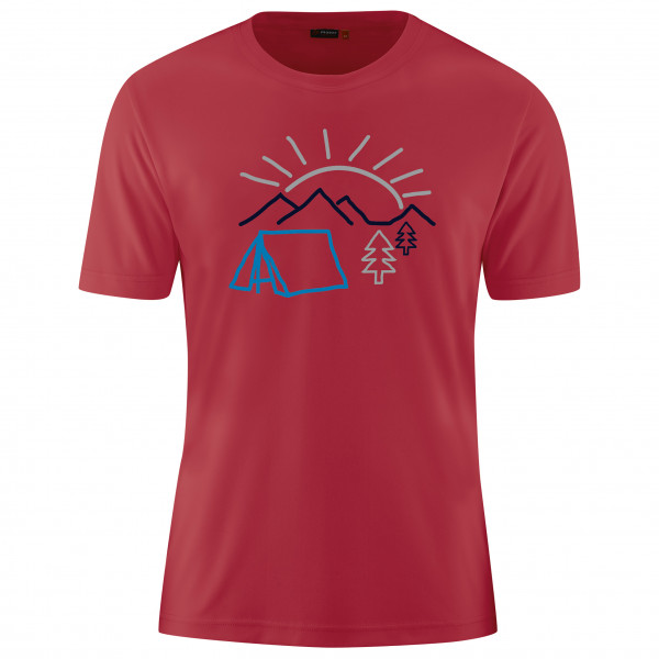 Maier Sports - Walter Print - T-shirt Size 4xl  Red/pink