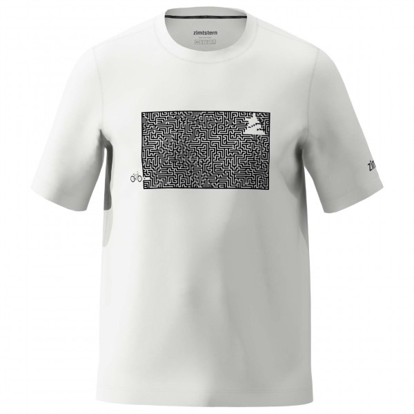Zimtstern - Shiningz Tee - T-Shirt Gr M grau/weiß M20013-9003-03