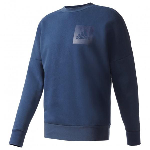 adidas ID Snow Wash Crew Fleece Trui maat XL blauw-zwart