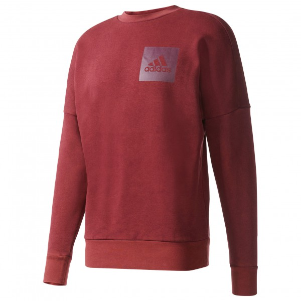 adidas ID Snow Wash Crew Fleece Trui maat XL rood-roze