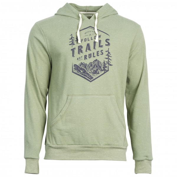 United By Blue - Follow Trails Hoodie - Pull-over à capuche gris/vert