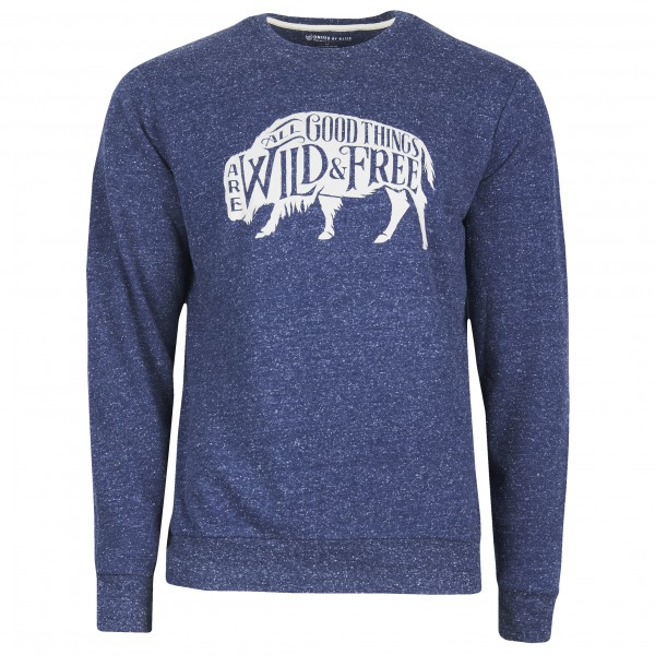 United By Blue - Wild & Free Crew Pullover - Pull taille L, bleu