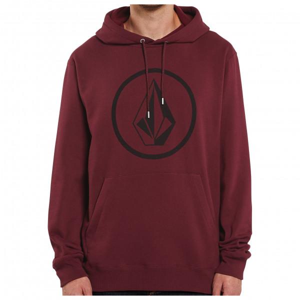 volcom - stone p/o cotton - hoodie maat s, rood/purper
