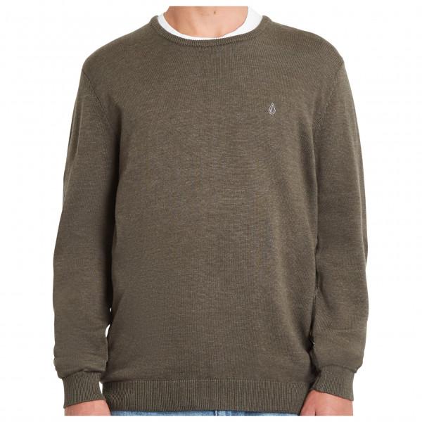 volcom - uperstand sweater - trui maat s, bruin/olijfgroen