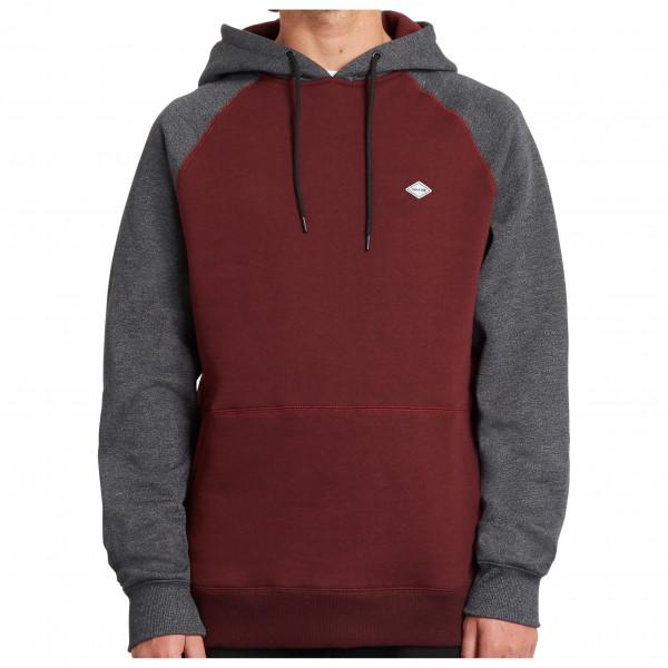 volcom - homak p/o - hoodie maat s, rood/zwart