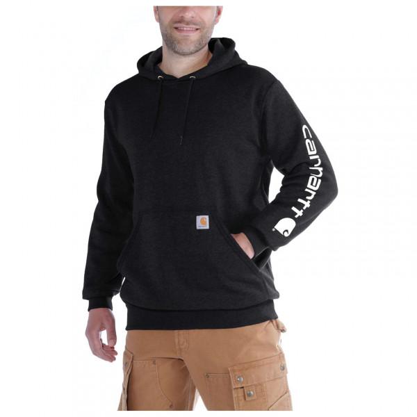 Carhartt - Sleeve Logo Hooded Sweatshirt - Hoodie Size M  Black