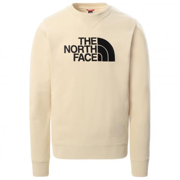 The North Face - Drew Peak Crew Light Cotton - Jumper Size L  Sand/white