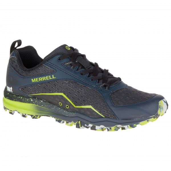 Merrell - All Out Crush Tough Mudder Trailrunningschuhe Gr 44 schwarz/grau - broschei