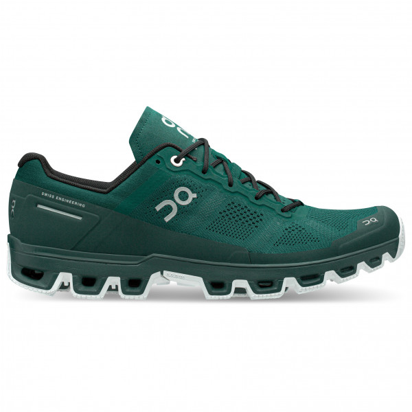 On - Cloudventure - Trail Running Shoes Size 48  Black/turquoise/olive