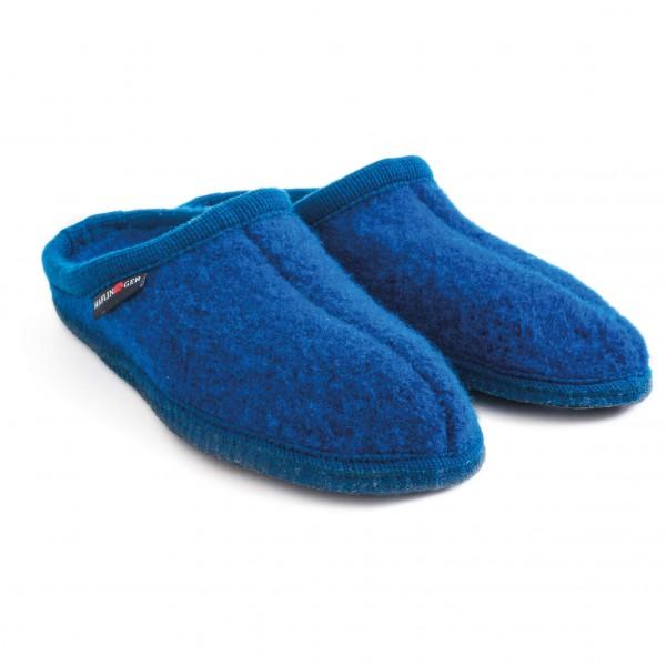 Haflinger - Walktoffel Alaska Hüttenschuhe Gr 46 blau