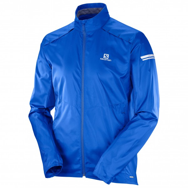 Salomon - Agile Wind Jacket Laufjacke Gr XL blau