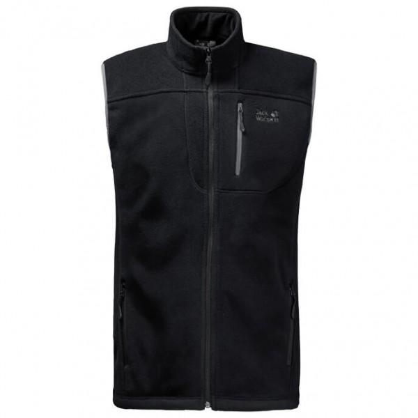 Jack Wolfskin Thunder Bay Vest Fleecebodywarmer maat L zwart