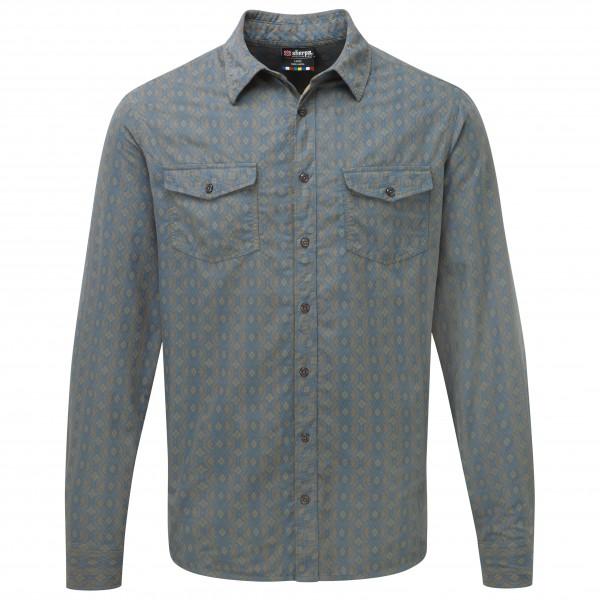 Sherpa - Surya L/S Shirt Hemd Gr XL grau