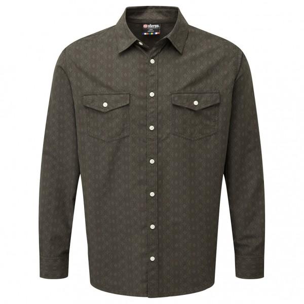 Sherpa - Surya L/S Shirt - Hemd Gr L schwarz/oliv
