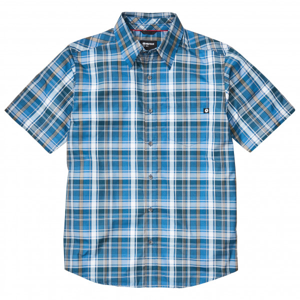 Marmot - Lykken S/S - Hemd Gr M grau/blau 44060-3488-M