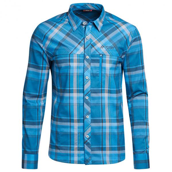 Maier Sports - Merton L/S - Hemd Gr 72 blau 147814
