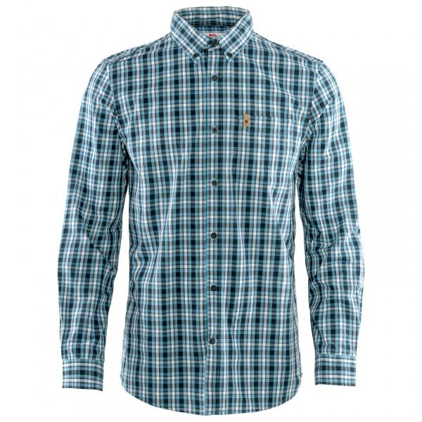 *Fjällräven – Övik Shirt L/S – Hemd Gr M grau/blau/türkis*