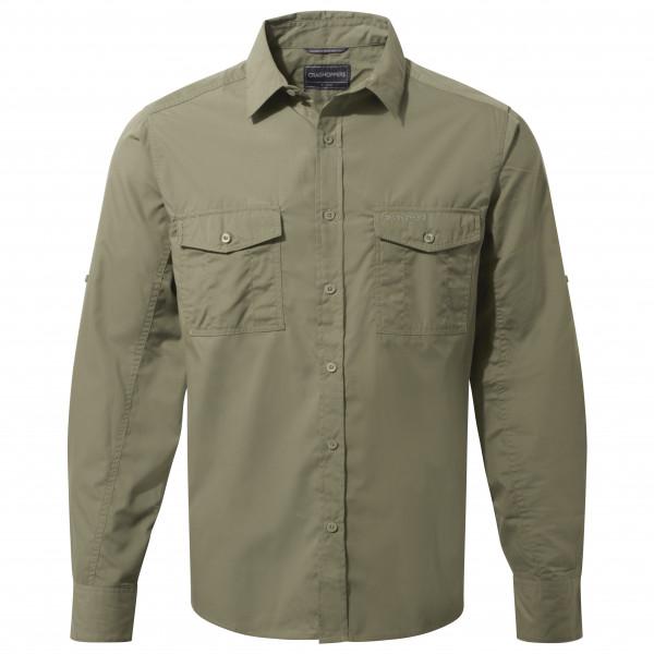 Craghoppers - Kiwi L/S Shirt - Hemd Gr L grau/oliv CMS700   62A70