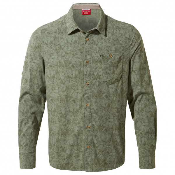 Craghoppers - Nosilife Kai L/s Shirt - Shirt Size L  Grey/olive