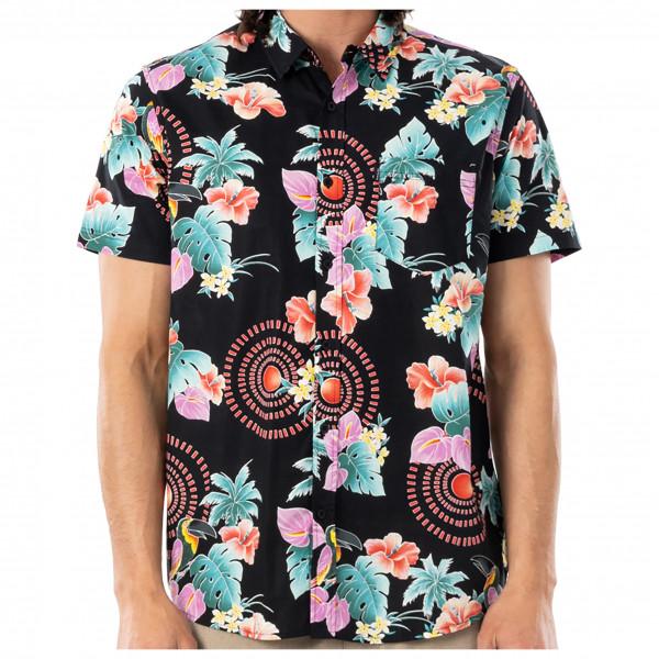 Rip Curl - Beach Party S/S Shirt - Hemd Gr M schwarz/beige CSHFG9_0090_M