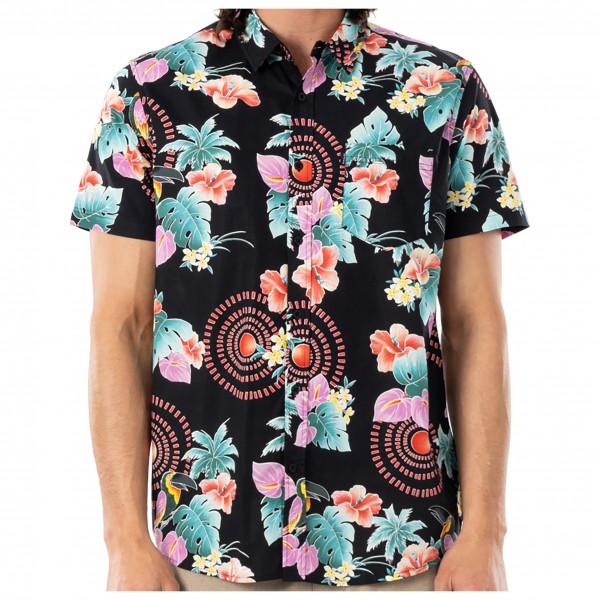 Rip Curl - Beach Party S/S Shirt - Hemd Gr L;XL;XXL schwarz/beige CSHFG9
