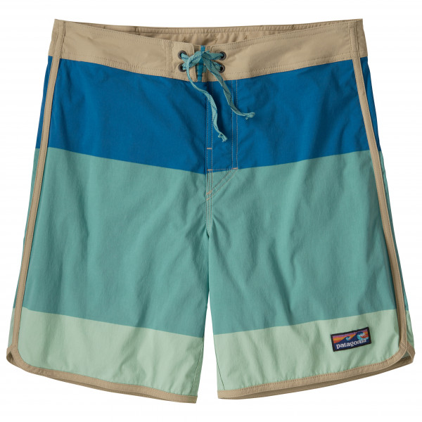 Patagonia - Scallop Hem Stretch Wavefarer Boardshorts Size 30  Turquoise/blue