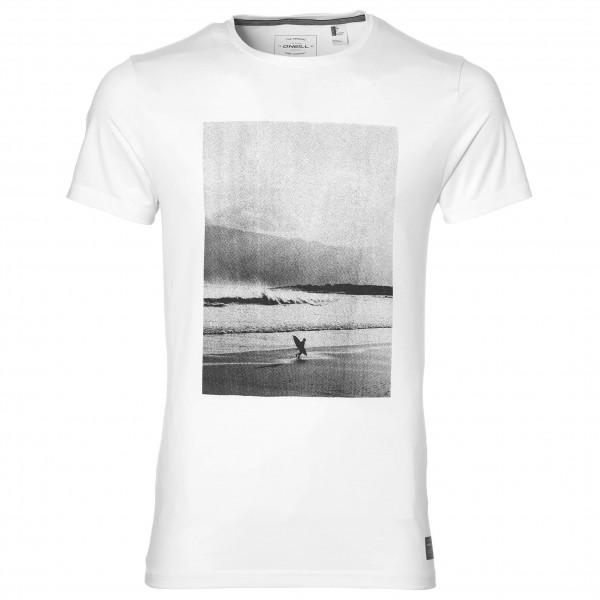 O´Neill - Half Dome Hybrid T-Shirt - Lycra Gr L;M;XL;XXL weiß/grau