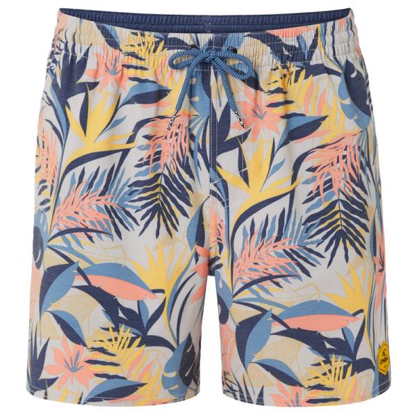 O'Neill - Hawaii Floral Shorts - Badehose Gr M grau/beige/blau 0A3202-7950-M