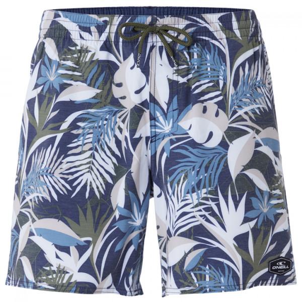 O'Neill - Hawaii Floral Shorts - Badehose Gr L;M;S;XL grau/blau;grau/beige/blau 0A3202